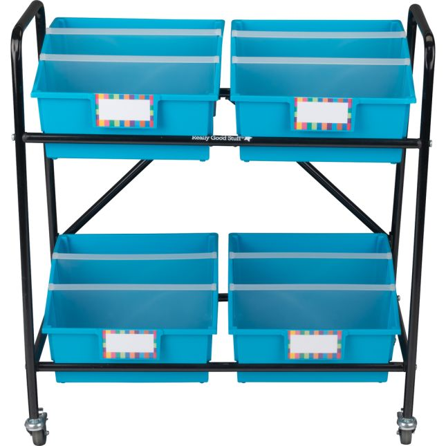 Mid-Size Mobile Storage Rack With Picture Book Bins™