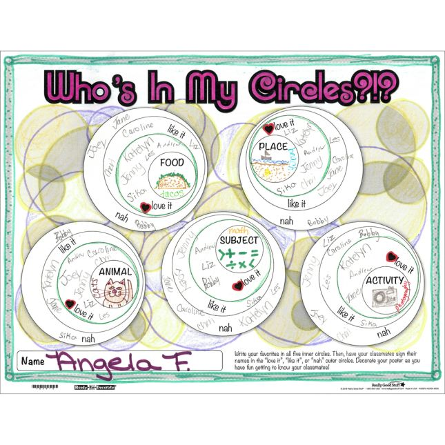 Ready-To-Decorate Whos In My Circles? Posters - 24 posters