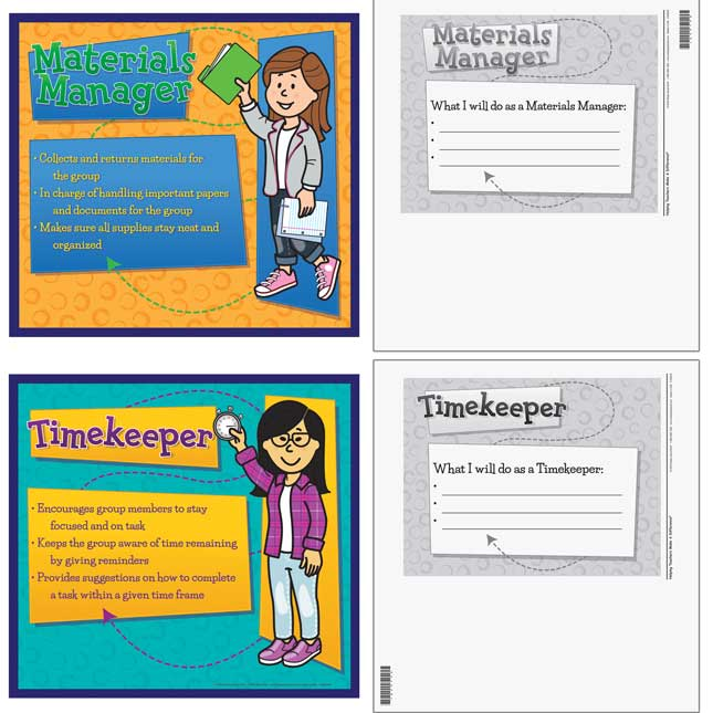 Cooperative Learning Team Roles Mini Posters