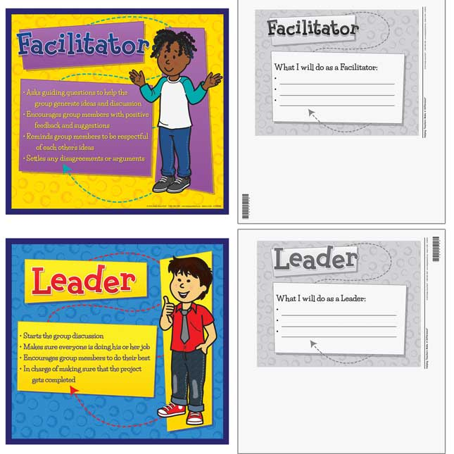 Cooperative Learning Team Roles Mini Posters - 6 mini posters