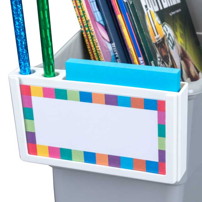 https www reallygoodstuff com universal label sticky note and pencil holders set of 4 p 166001wh