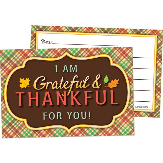 Grateful And Thankful Cards