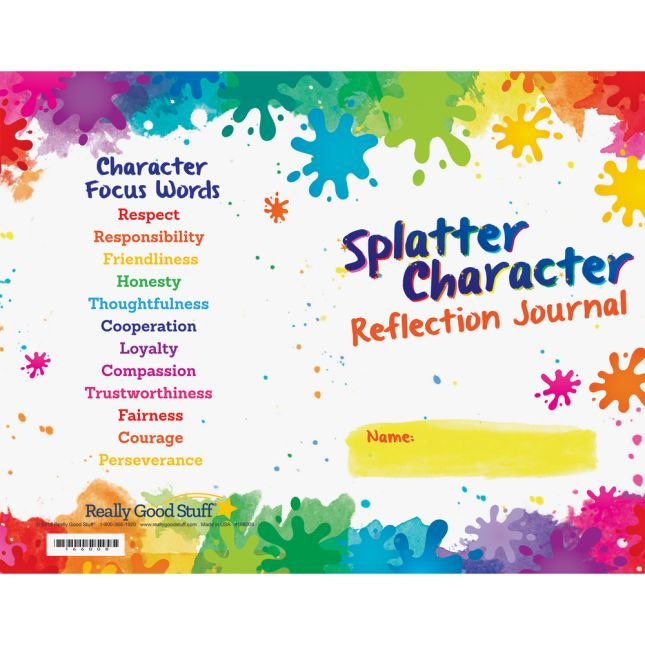Splatter Character Reflection Journals