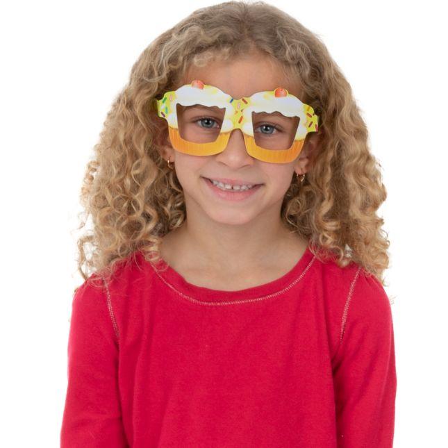 Cupcake Birthday Glasses