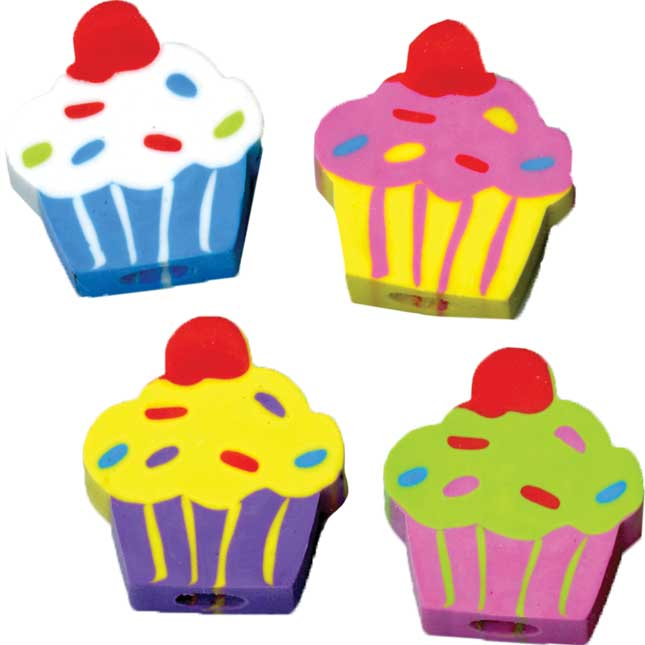 Cupcake Birthday Pencils And Erasers Kit