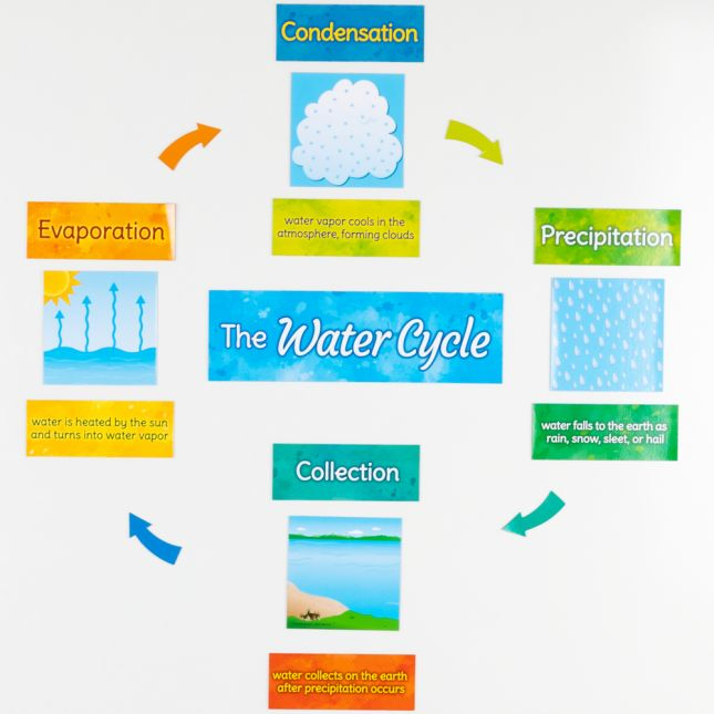 The Water Cycle Magnets - 17 magnets