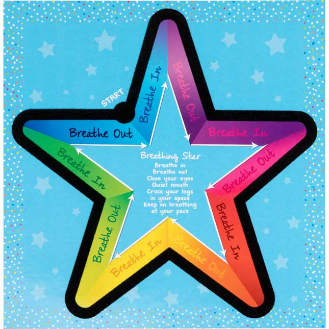 Sensory Breathing Star Calming Tactile Cards