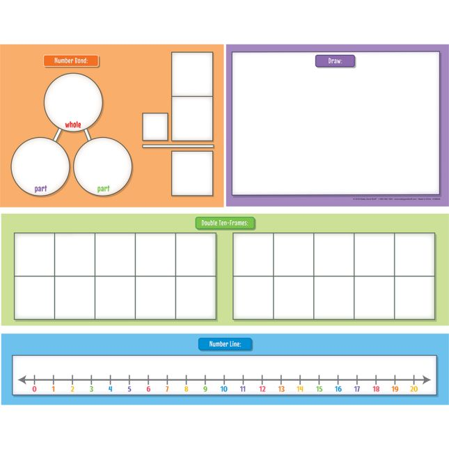 Scaffolded Addition And Subtraction Magnetic Charts - 4 charts