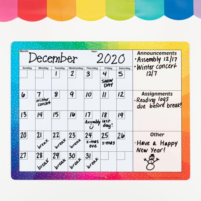 Magnetic Dry Erase Calendar - 1 calendar_0