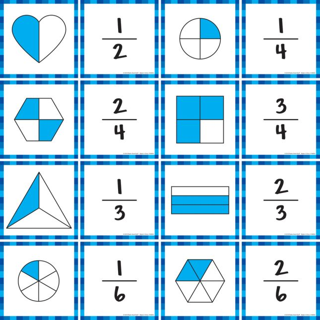 Intermediate Fractions Cards