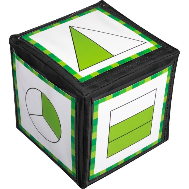 "Primary Fraction Cards And 6"" Cubes - 2 cubes, 22 cards"