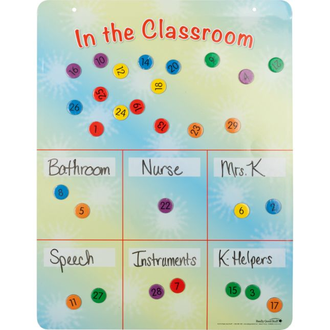 Where Is Everyone? Magnetic Board And Magnets Set