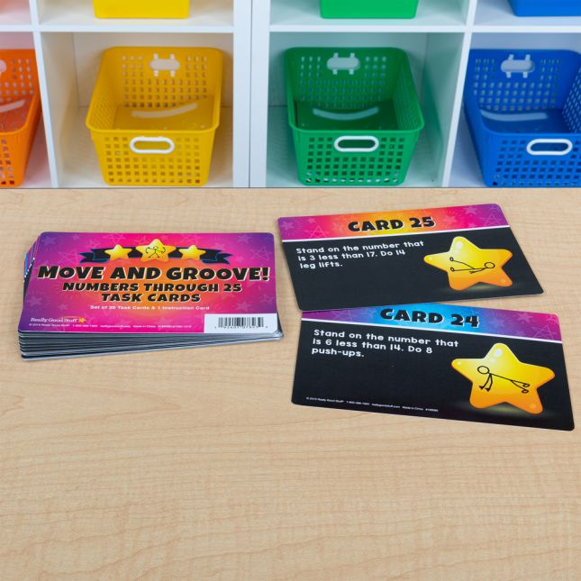 Move And Groove! Numbers Through 25 Task Cards - 20 cards