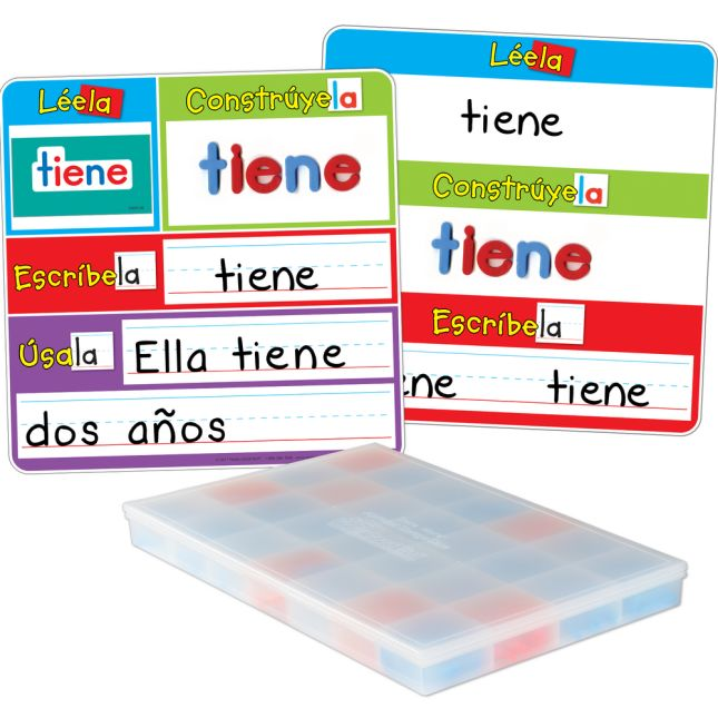 Spanish Magnetic Read, Build, And Write Boards, Letters, And Sight Words Deluxe Kit