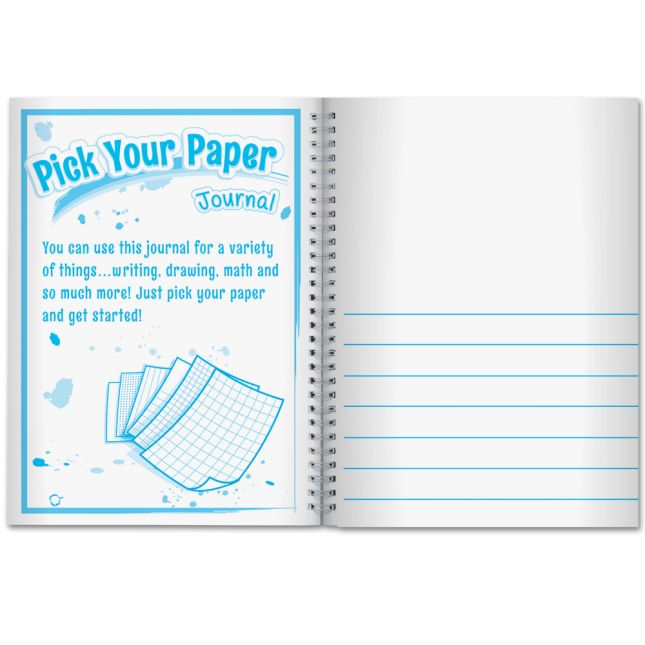 Pick Your Paper Spiral Journals - 6 Pack