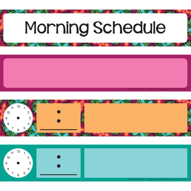 Daily Schedule Pocket Chart Cards - 22 cards