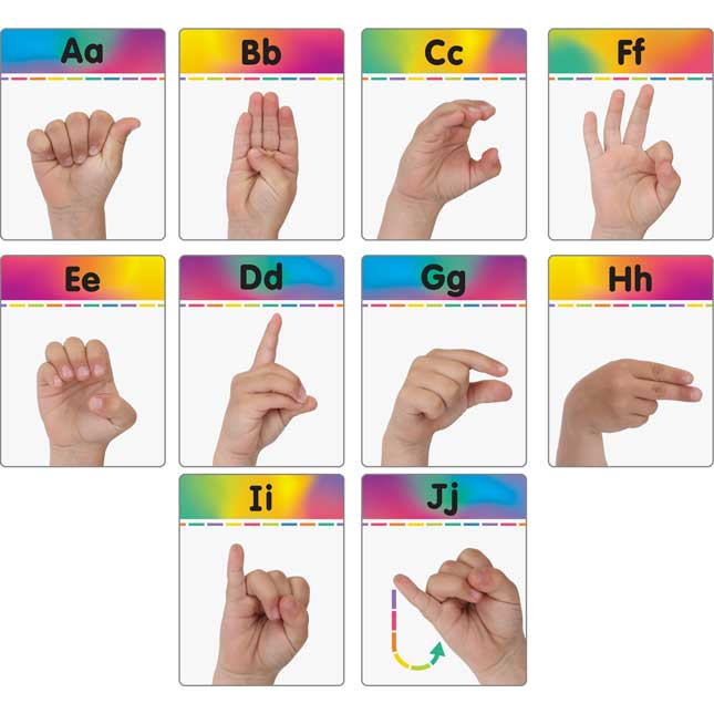 Sign Language Alphabet And Common Phrases Cards