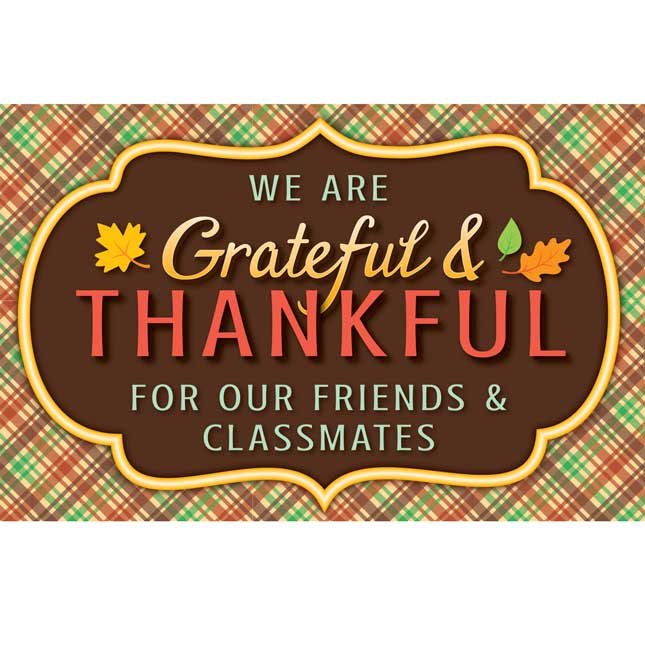 Grateful And Thankful Poster