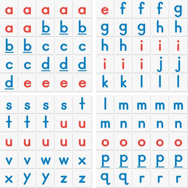 Letter Stacking Tiles - 100 tiles