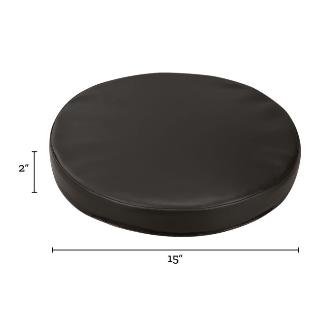 Round Cushions  Set Of 6  Single Color - Black