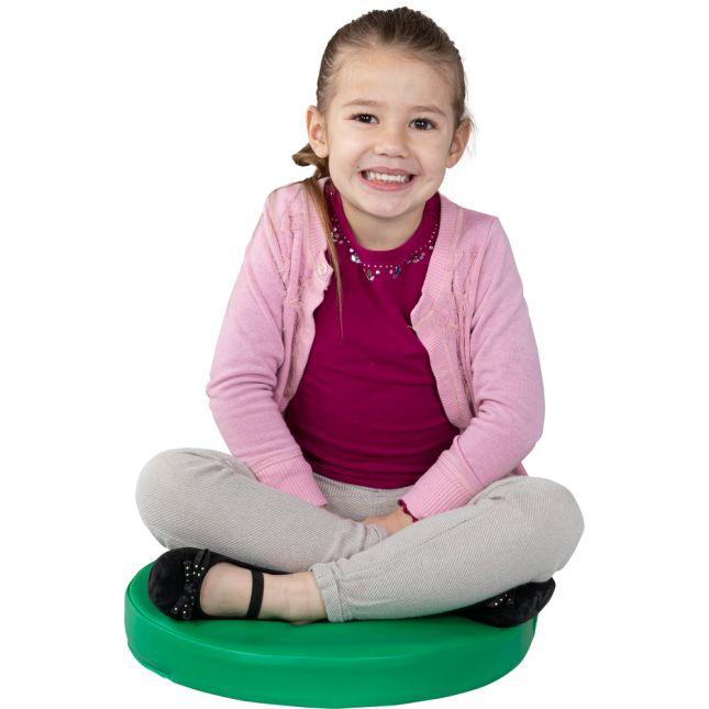 Round Cushions  Set Of 6  Single Color - Orange