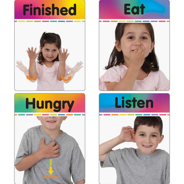 Sign Language Cards And Poster