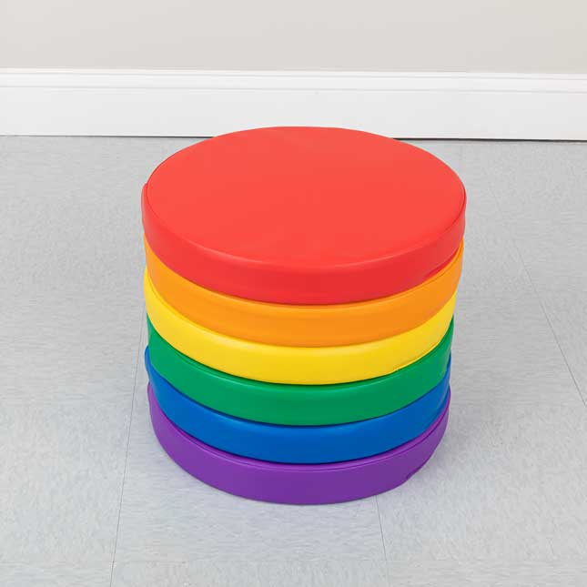 Round Cushions Set Of 6 6 Colors
