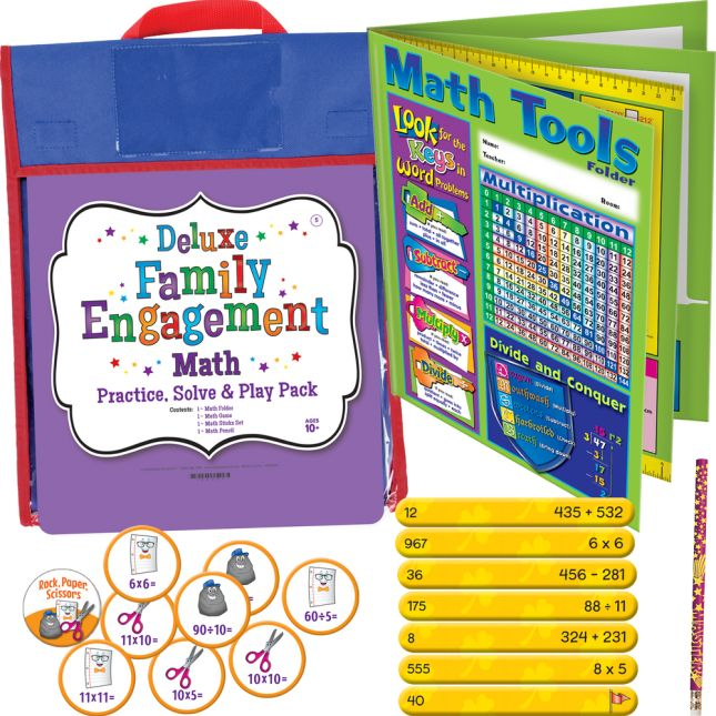 Deluxe Family Engagement Math - Practice, Solve  and Play Pack - Fifth Grade