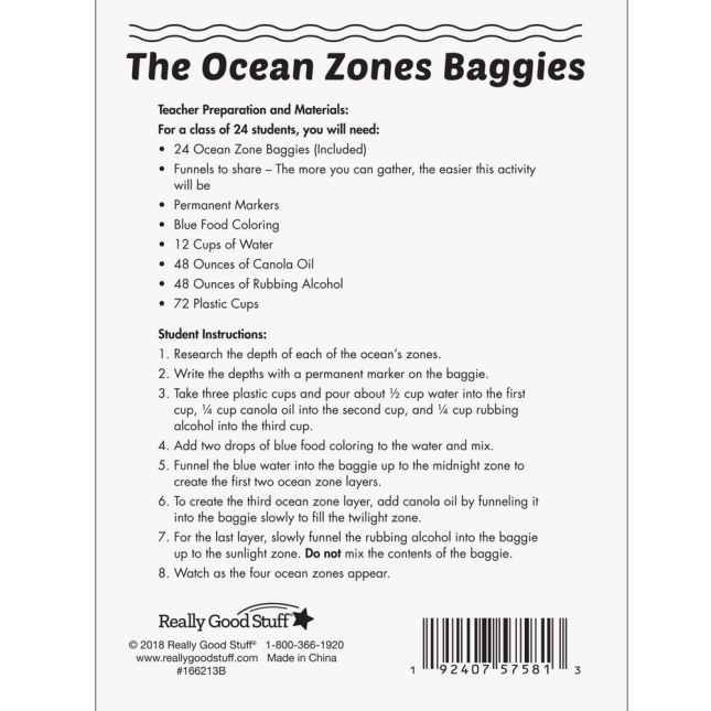 The Ocean Zones Baggies