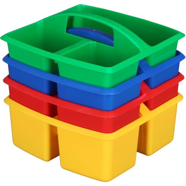 3-Compartment Caddies - Set Of 4 - Primary