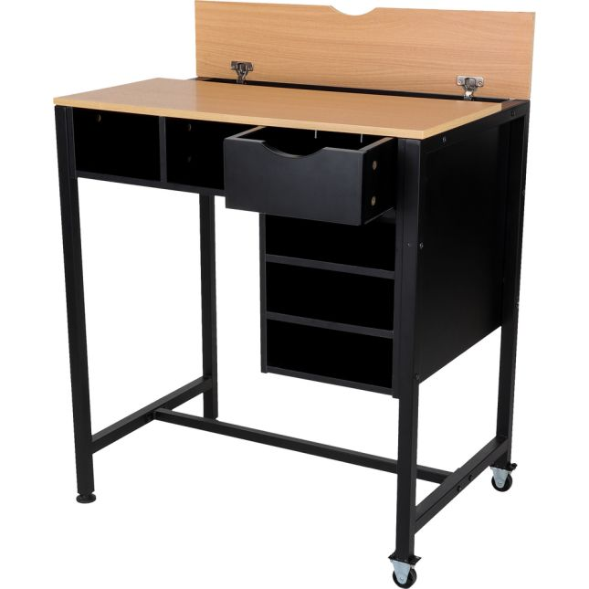 Standing Workstation With Teacher Kore Chair And Multicolor Baskets - 1 station, 1 chair, 5 baskets