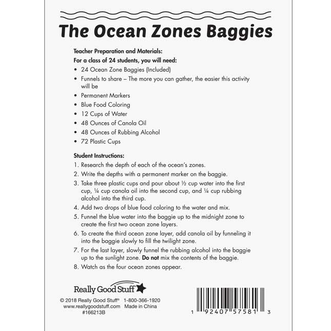 The Ocean Zones Kit - 1 multi-item kit