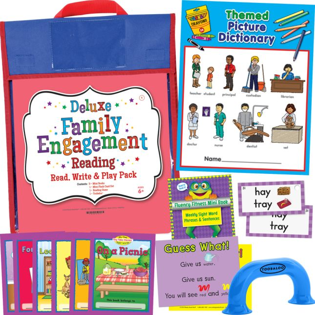 Deluxe Family Engagement Reading - Read, Write  and Play Pack - First Grade