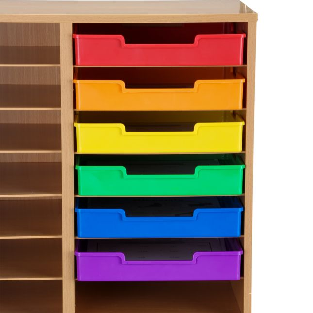 Plastic Trays - Single-Color Set Of 27