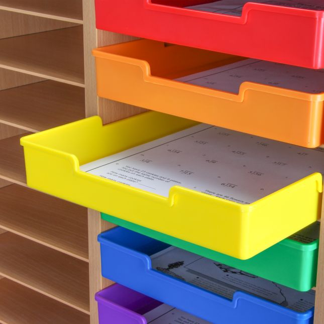 Plastic Trays - Single-Color Set Of 27