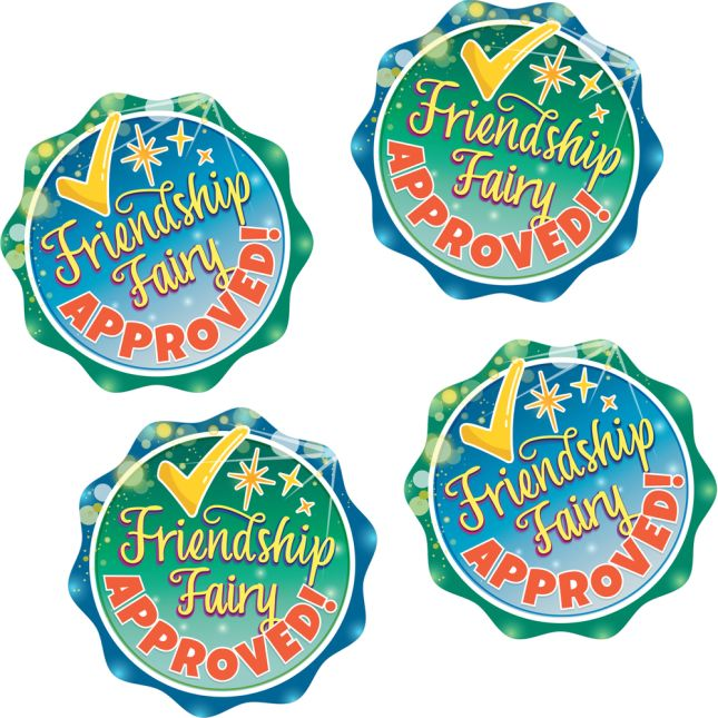 Friendship Fairy Stickers  36 Pack