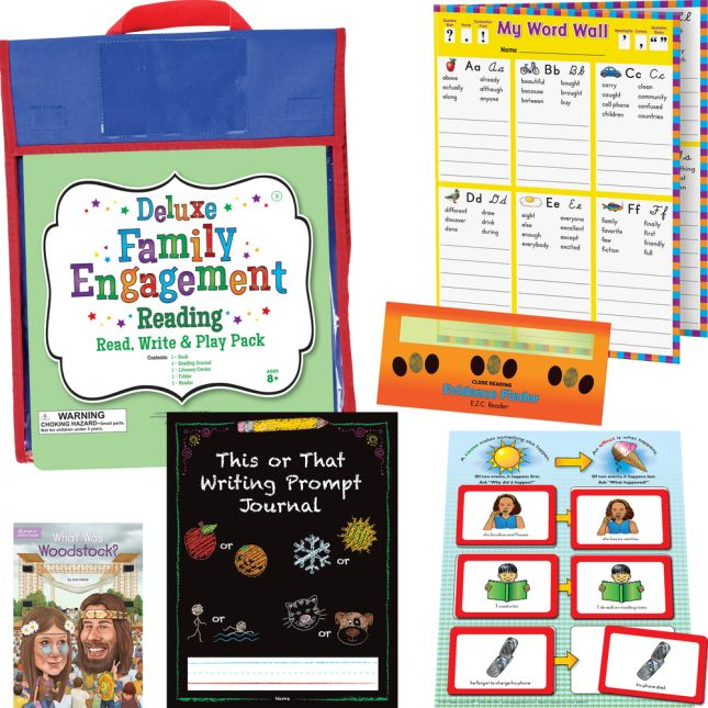 Deluxe Family Engagement Reading - Read, Write  and Play Pack - Third Grade