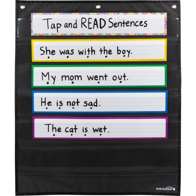 Programmable Pocket Chart Cards  Rainbow - 36 cards