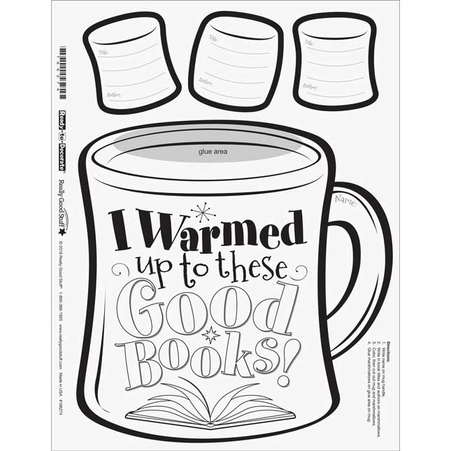 Warm Up To A Good Book Ready-To-Decorate® Cocoa Mugs