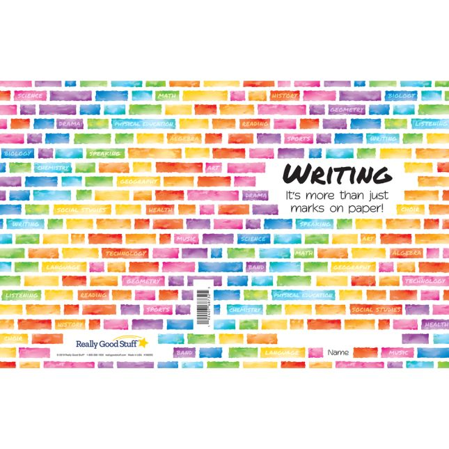 Softcover Rainbow Building Blocks Journals  12 Pack