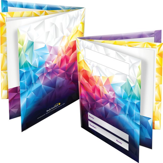6-Pocket Color-Coded Folders - 12 folders