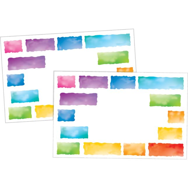 Rainbow Building Blocks Labels  36 Pack