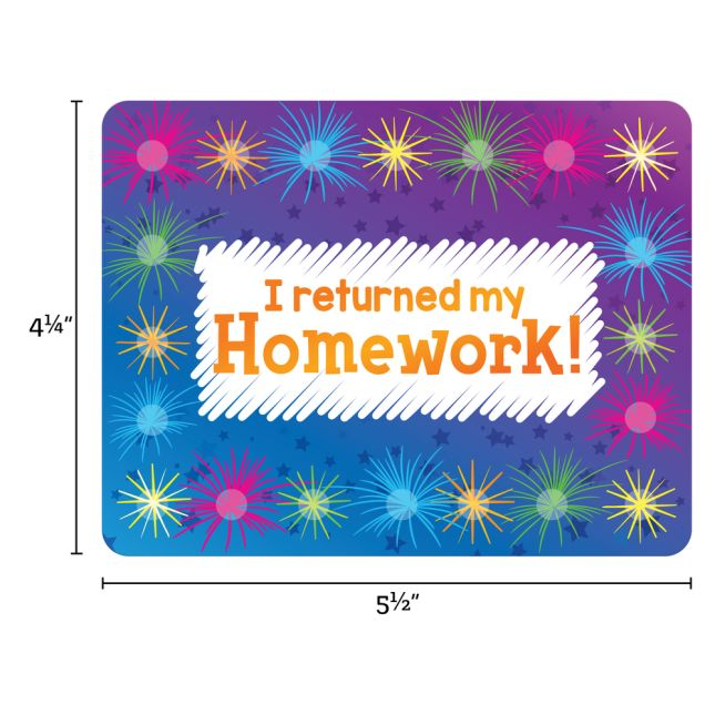 Homework Return Tracking Cards  24 Pack