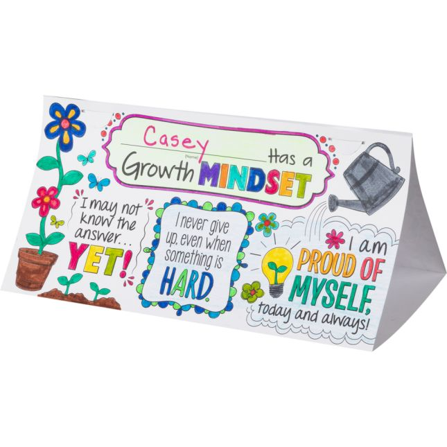 Ready-To-Decorate® Growth Mindset Desktop Tents