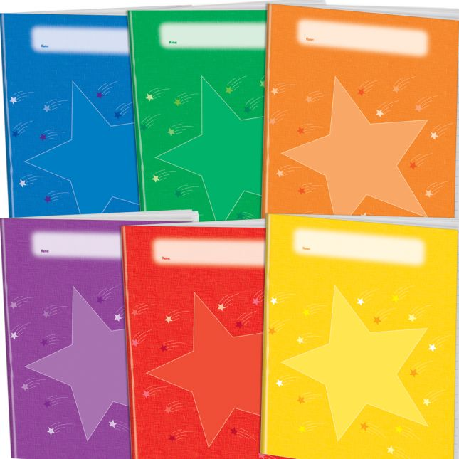 Group Color Journals 6 Color - 12 Pack