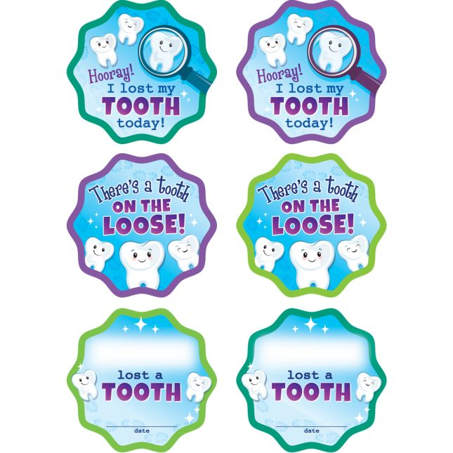Missing Tooth Stickers - 36 stickers
