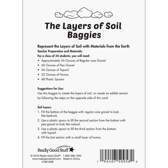 The Layers Of Soil Kit
