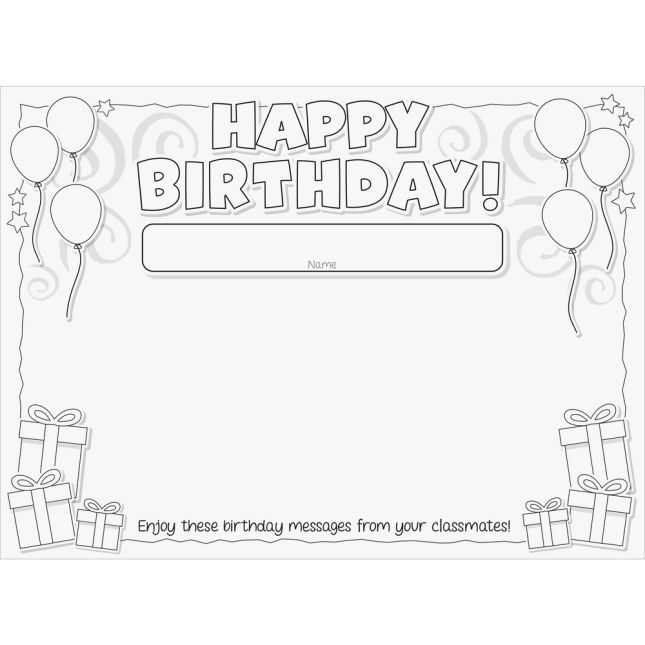 Happy Birthday! Bracelets, Desktop Tents, And Posters Kit