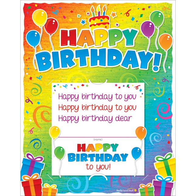 Happy Birthday! 6-In-1 Poster Set