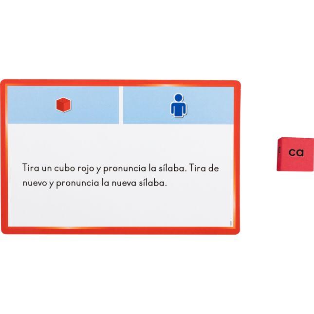 Spanish Syllable Dice And Task Cards (Juego de Cubos y Tarjetas de trabajo con sílabas directas)